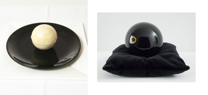 dessert boule noire